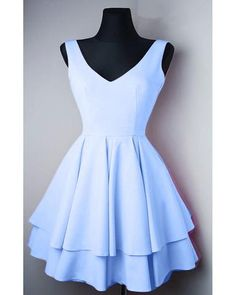 Sale Easy Simple Homecoming Dresses Simple V Neck Satin Pretty Homecoming Dresses Short Prom Dresses Blue Graduation Dresses, Grade 8 Grad Dresses, Pretty Homecoming Dresses, V Neck Prom Dresses, Prom Dresses 2018, Pretty Dresses, Dresses Dresses, 8 Grade Graduation Dress, Cute Formal Dresses