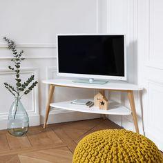 La Redoute Interieurs - Meuble TV d'angle vintage double plateau, Jimi | La Redoute