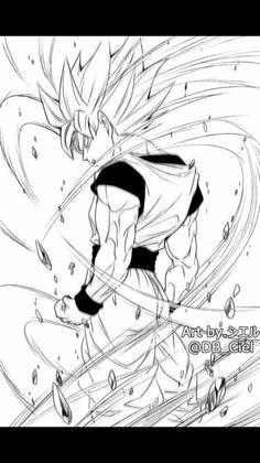 Goku Drawing, Ball Drawing, Dragon Ball Z, Character Drawing, Character Design, Goku Manga, Goku Pics, Sword Design, Art Graphique