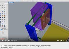 ✅ Como construir una Fresadora CNC casera 3 ejes, Convertible a impresora 3D #5 - YouTube