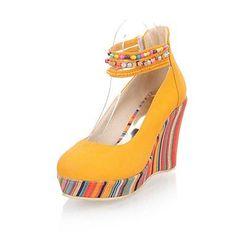 Bombas de la plataforma de la cuña de talón de las mujeres de piel  sintética   zapatos de los tacones (más colores) – USD   29.99 82ddcbcdc0e5a