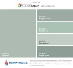 Sherwin-Williams house colors for second side of house: Snowbound (SW Rain (SW Repose Gray (SW Mindful Gray (SW Tradewind (SW
