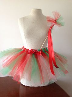 This is our brand new create your own Christmas tutu and wand kit!