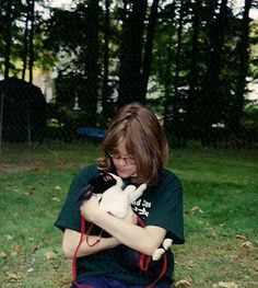 My first rabbit, Friendly. She was the only pet I have ever been able to teach to play dead.