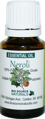 Neroli Essential Oil - 0.5 fl oz / 15 ml, $21.00.  When inhaled Neroli is antidepressant, a mild sedative, and when used at night eases insomnia.