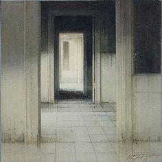 Interior. Autor: Morago   Oleo / Tabla