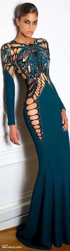 Butterfly dress in teal for elegant attire
