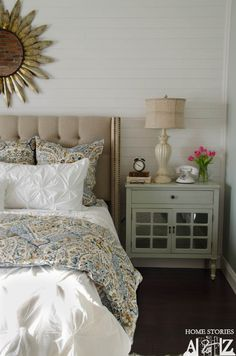 master bedroom makeover with plank walls Home Bedroom, Bedroom Decor, Bedroom Ideas, Guest Room Essentials, Master Bedroom Makeover, Bedroom Makeovers, Plank Walls, Diy Décoration, Guest Bedrooms