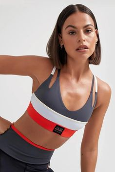 Sweat it out in the studio with P.E Nation's Jump Shot Sports Bra. Delivering strategic support, a fitted underbust band and open straps, you'll be ready for anything your PT throws at you. Athleisure Wear, Athleisure Fashion, Streetwear Fashion, Gym Tops, Sweat It Out, Sports Luxe, Sports Women, Fitness Fashion, Active Wear