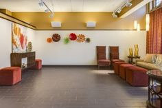 Luxury #Hospitality #Design firm #TumbleweedInteriors created this stunning design for an #EventCenter.  It's filled with warm #color, #sustainable #materials and #artdeco elements.  Located in #Lindsborg #Kansas near #Wichita