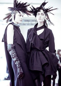 Ann Demeulemeester AW'12.  This show was simply gorgeous
