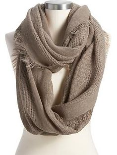 Women's Lightweight Infinity Scarves | Old Navy  Want a grey scarf! I like the texture of this one.
