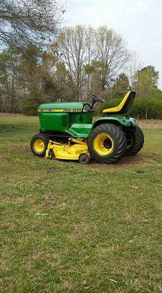 Small Tractors, Compact Tractors, John Deere Garden Tractors, Lawn Tractors, Johnny Pops, John Deere 400, Hobbies For Kids, Hobbies Creative, Garden Tractor Attachments