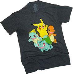 Pokémon — Cool Pikachu & Group Montage Vintage Distressed Print Adult T-Shirt, X-Large – Pokemon Tshirt for Men