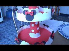 baleiro simples para festa da minnie vermelha - YouTube