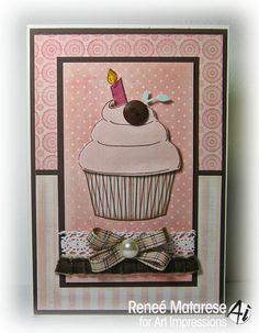 Cupcake Keeper card by @Renee Matarese