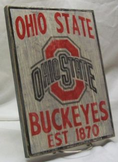 Ohio State Buckeyes wall sign distressed by Route66VintageSigns, $25.00