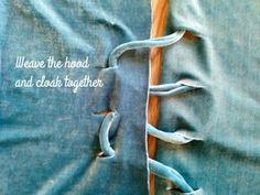 No Sew Hooded Fabric Cloak