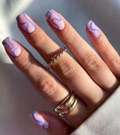 Cute Gel Nails, Funky Nails, Pretty Nails, Colorful Nails, Cute Short Nails, Edgy Nails, Bright Nails, Nagellack Design, Acylic Nails