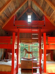And a special lofted bed for kids' sleepovers