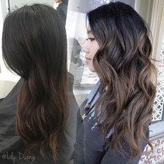 Ombré balayage for a cutie! . #behindthechair #hairbylily408 #elysianhairstudioinc #colorist #ashy #balayage #ombre #balayageombre #ombrehair #btcpics #modernsalon #guytanginspired #beforeandafter #sanjose #bayarea #cali #bayareahairstylist #bayareahair #sanjosehair #willowglen #sanjosecolorist #correction #hairpainting #guytang