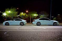 p1nk50ck's slammed Alpine White M Coupe with an M3 friend Alpine White, Slammed, Bmw, Cars, Cutaway, Autos, Car, Automobile, Trucks