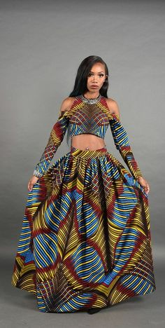 by RAHYMA on Etsy ~African fashion, Ankara, kitenge, African women African Dresses For Women, African Print Dresses, African Attire, African Fashion Dresses, African Wear, African Women, African Prints, African Style, African Fabric