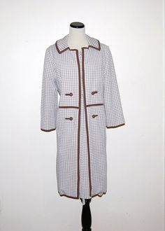 60s Dress with Coat by CheekyVintageCloset on Etsy, $54.00