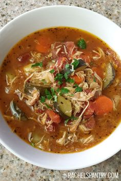 Italian chicken and vegetable soup recipe