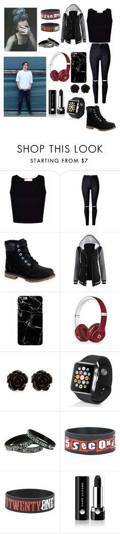 """""""Date with Colby Brock """" by joanaoliveira-ii ❤ liked on Polyvore featuring Timberland, Beats by Dr. Dre, Erica Lyons, Apple and Marc Jacobs"""