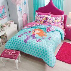 New Girls Teens Pink Aqua Mermaid Flowers Comforter Bedding Set in Home & Garden,Kids & Teens at Home,Bedding | eBay