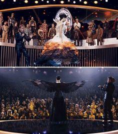 Katniss in Girl on Fire to Mockingjay Dress
