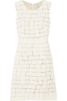 Lela Rose, Appliqued cotton-blend dress at Roan
