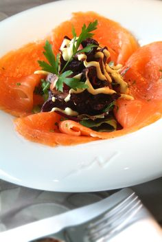 Salmon & Beetroot Salad - Fahrenheit Grill Restaurant at Clontarf Castle Hotel Homemade Pastries, Grill Restaurant, Romantic Meals, Beetroot, No Cook Meals, Thai Red Curry, Catering, Salmon, Grilling