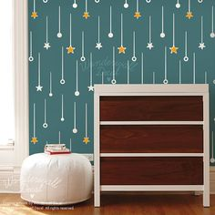 Comet Rain Pattern Wall Decal Wallpaper Seamless Pattern Wall Sticker Wall Panel