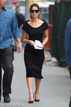 Clean break: Neither Kate nor Len is demanding spousal support, indicating they may have a prenuptial agreement (pictured last week in NYC)