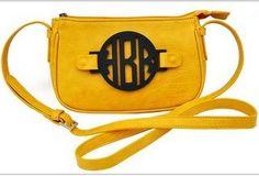 Monogrammed Cross Body Bag. $98.00, via Etsy.