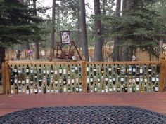 Wine Bottle Fence in Bend, Oregon