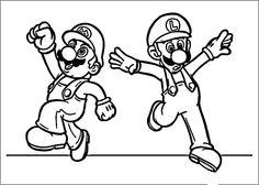 Mario Bross Tegninger til Farvelægning. Printbare Farvelægning for børn. Tegninger til udskriv og farve nº 28