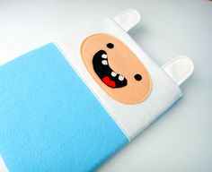Finn Adventure Time felt iPad case.