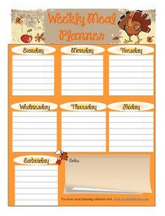free printable meal planner