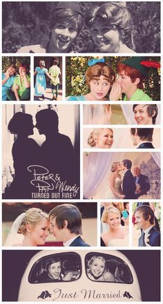 How cute is this, the people who played Peter Pan & Wendy @ Disneyland ended up getting married! So cute :)