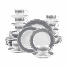 Slate 40 Piece Dinnerware Set, Mikasa