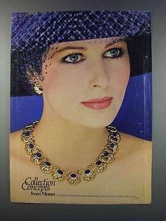 1981 Monet Jeweled Tone Stone and Enameled Jewelry Ad Retro Advertising, Vintage Advertisements, Vintage Ads, Monet Earrings, Patti Hansen, Lauren Hutton, Jewelry Ads, Fashion Jewelry
