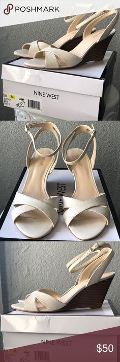 d49a430c6e08 Nine West Women s Kami Leather Wedge Sandal Never worn
