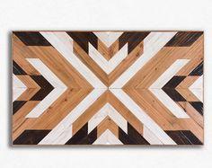 Reclaimed Wood Wall Art Geometric Wood Wall Art от EthosWoodworks