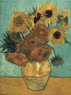 Los Girasoles de Van Gogh Se levantaba temprano para pintar las flores, porque cuando le daba el sol se marchitan, le encantaba pintar los campos, los cipreses, las flores, el trigo, en fin, se sintió atrapado por la luz y el color de la naturaleza. El amarillo (símbolo del amor, la luz, la emoción, pasión, calor…) era su color preferido, muy abundante en sus obras, incluso en la fachada de la vivienda donde residía en Arlés en el sur de Francia y de la que saldrían estos lienzos.