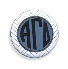 Alpha Gamma Delta Chevron Monogram Button from GreekGear.com