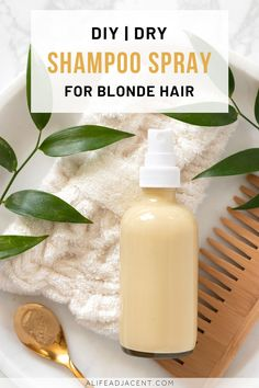 oily hair DIY Dry Shampoo for Blondes. Learn how to make DIY dry shampoo spray for blondes. This natural recipe can be customized to suit any shade of blonde hair! No more telltale powdery l Homemade Dry Shampoo, Diy Shampoo, Natural Beauty Recipes, Natural Recipe, Diy Cosmetic, Types Of Manicures, Blonde Hair Shades, Hair Care Recipes, Diy Hair Care