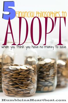 Saving money seems to come easier to some, but probably because they have adopted a few of these financial philosophies to help them save more. Are you willing to change so you can put more away?